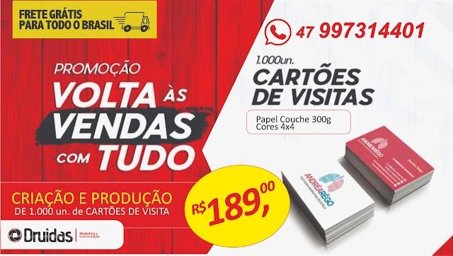 Produção de material gráfico enviamos para todo o Brasil