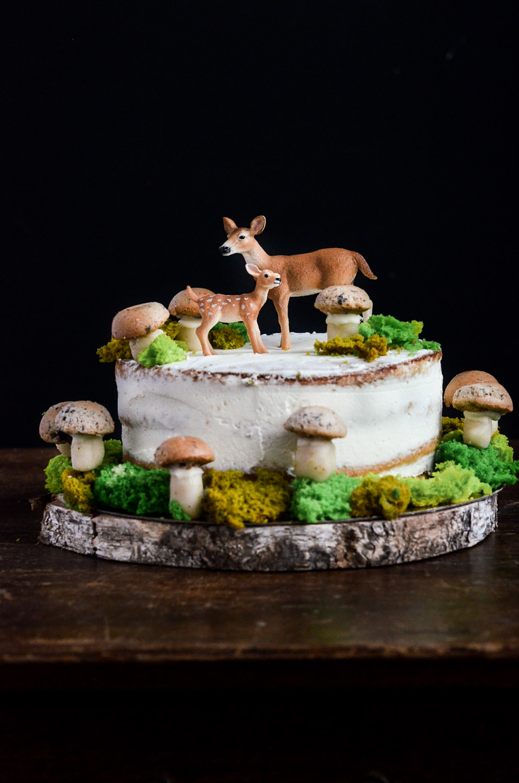 Naked Cake la forêt enchantée
