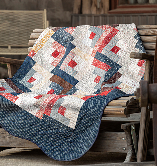 Simple Log Cabin Quilt designed by Jenny of Missouri Quilt Co