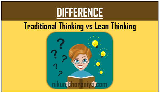 Traditional vs Lean Thinking