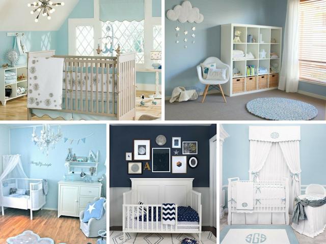 Quartos de bebé menino em azul