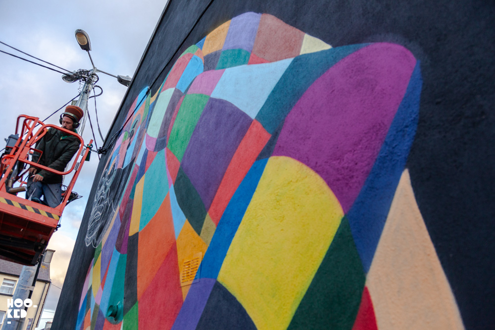 Street Artists transform Waterford City, Lousi Masai at work