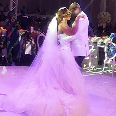 Davido's sister Coco Adeleke's lavish white wedding in Dubai