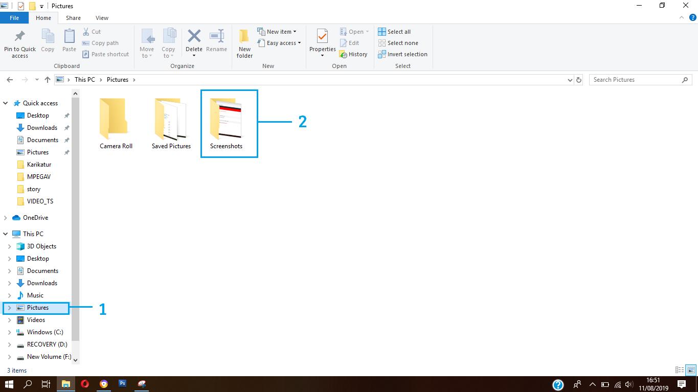 cara mengambil screenshoot di Windows 10