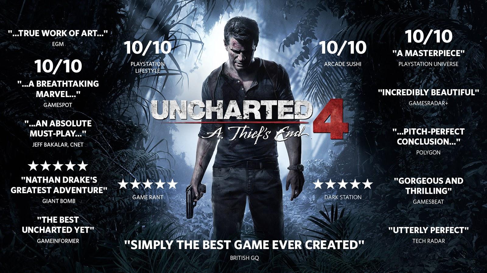 uncharted 1 vs 4 graphics