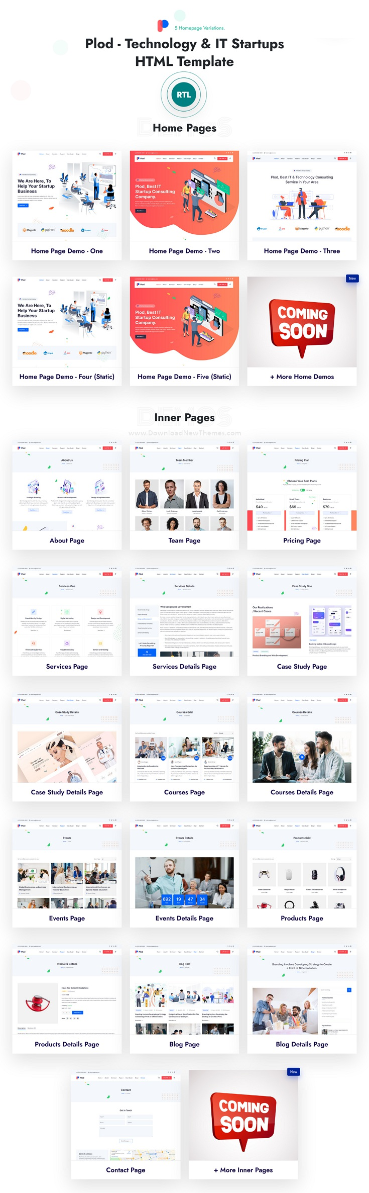 Technology and IT Startup Bootstrap Template