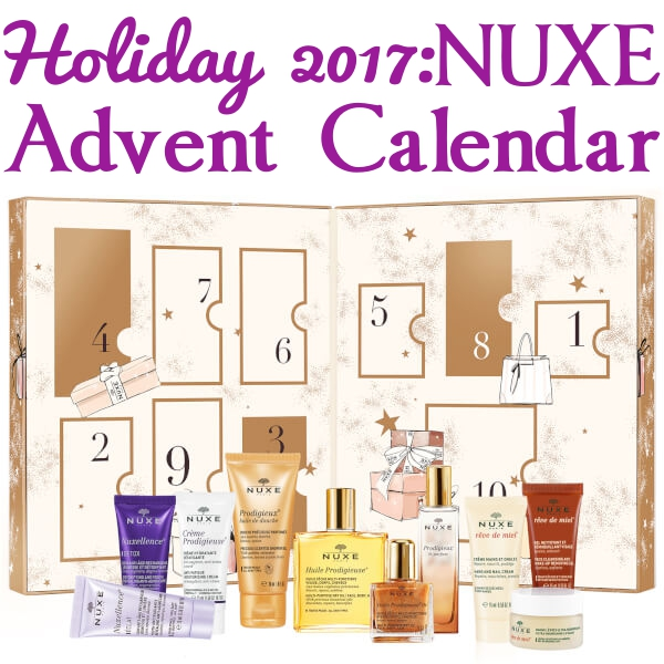 NUXE Beauty Treasures Advent Calendar For Holiday 2017: Ships Worldwide