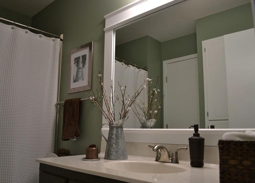 Dwelling Cents: Bathroom Mirror Frame