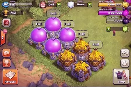 How to get a lot of gold in Clash of Clans