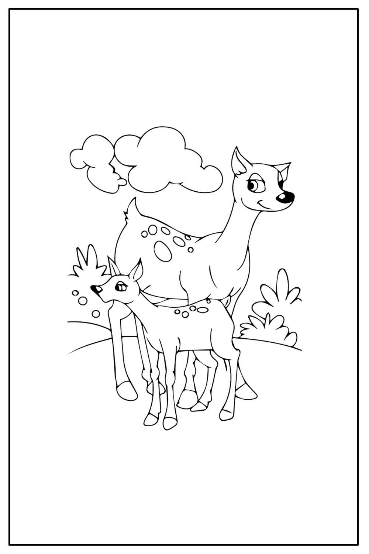 Download Wallpaper Coloriage girafe et petit girafe