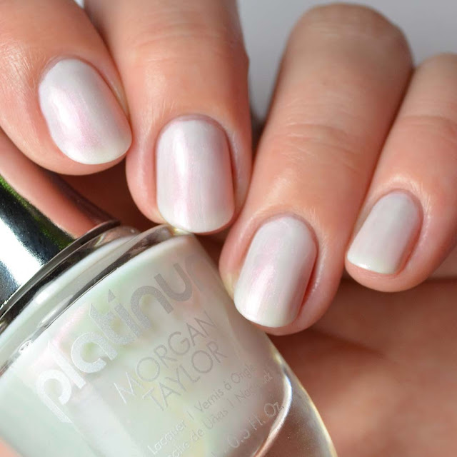 white duo chrome nail polish