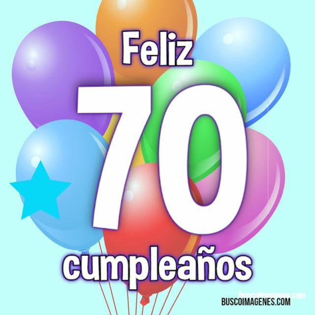 Feliz 70 cumpleaños, tarjetas gratis