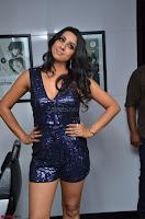 Sanjana looks happy in sparkling short Deep neck Purple Gown ~  Exclusive 66.JPG