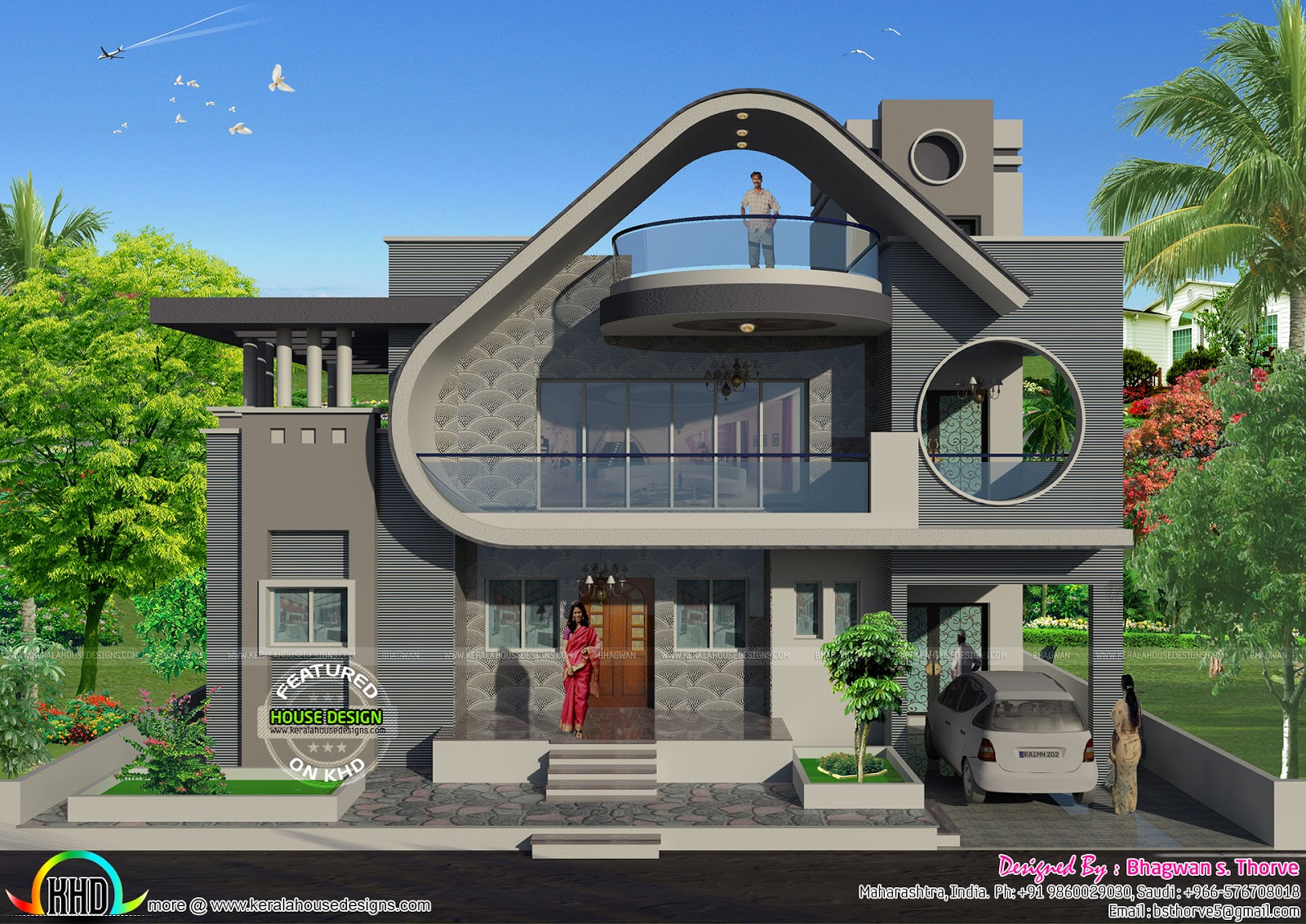 Indian House Design Front View Ground Floor Garden Design