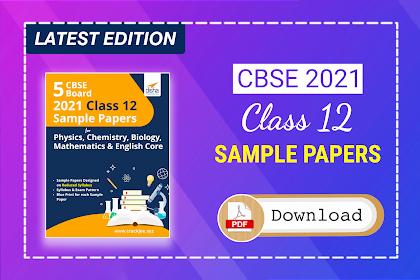 [Pdf] Disha CBSE Board 2021 Class 12 Sample Papers | Latest Edition eBook