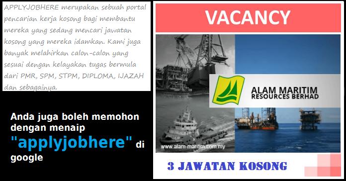 3 jawatan kosong alam maritim