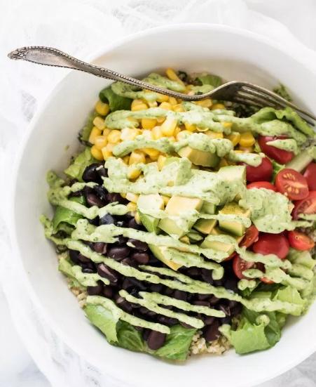 QUINOA BURRITO BOWL #dinner #quinoa #burrito #healthylunch #vegan