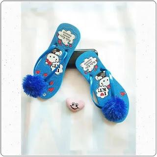 Sandal HK Sablon Pompom DWS