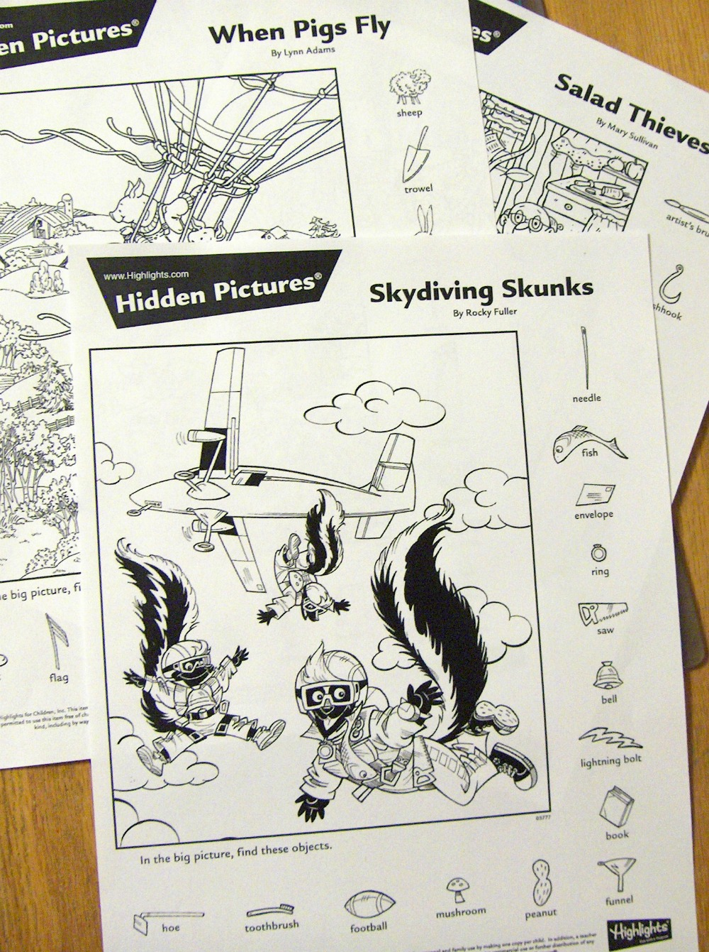Fantastic Find Printable Hidden Pictures Puzzles
