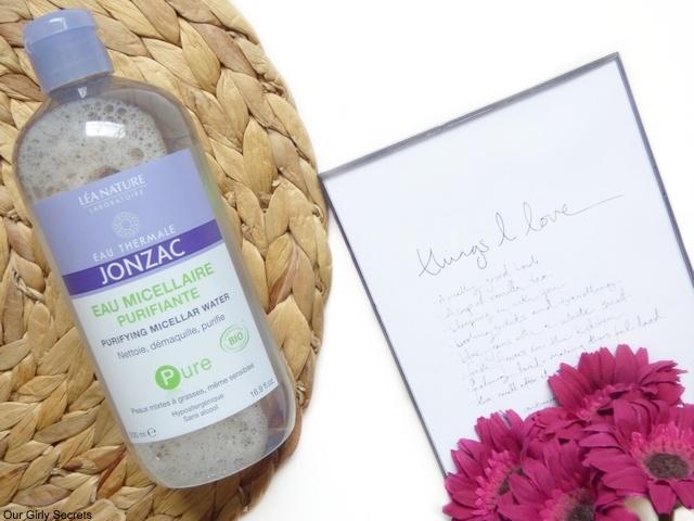 eau micellaire purifiante jonzac nettoie, démaquille et purifie tout en étant bio et naturelle