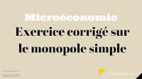 Microéconomie exercices corrigés - Exercice corrigé sur le monopole simple | Microéconomie