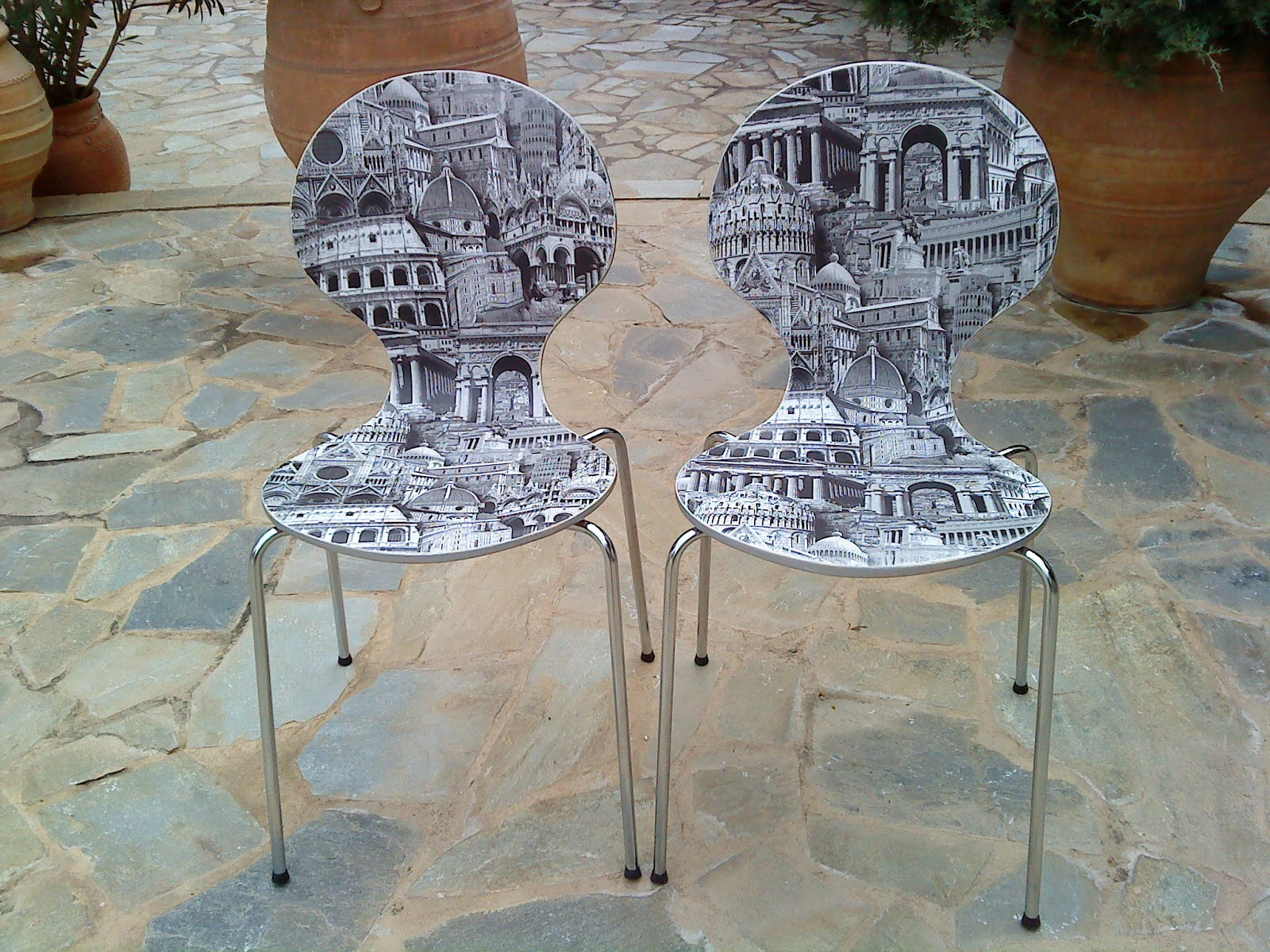 Decoupage chairs