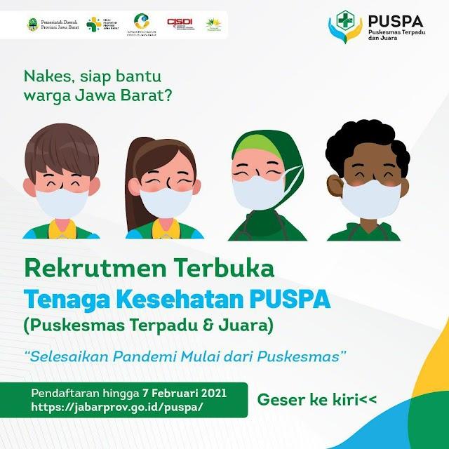 """Loker Dokter """"Tenaga Kesehatan Puspa (Puskesmas Terpadu & Juara) Jawa Barat"""