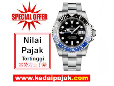 Pajak Jam Rolex GMT-Master Dengan RM32,000 - kedaipajak.com