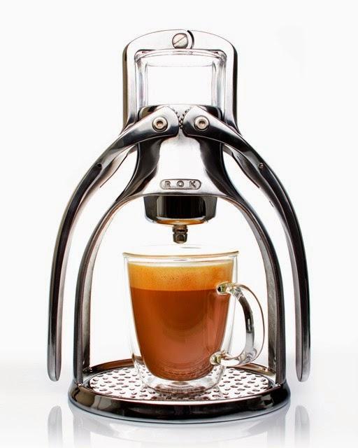 rok coffee maker outdoors
