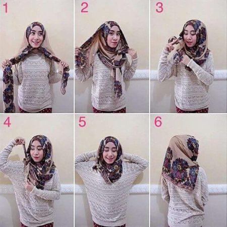 cara memakai jilbab segi empat 2021