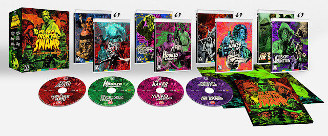 A look at the complete contents of Arrow's HE CAME FROM THE SWAMP Blu-ray Set!