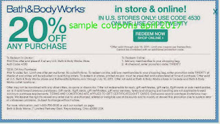 Bath And Body Works coupons april 2017