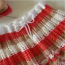 Falda Motivo Piña a Crochet