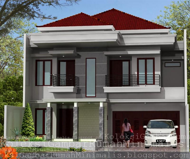 100 Desain Contoh Gambar Rumah Minimalis Lantai 2 Modern