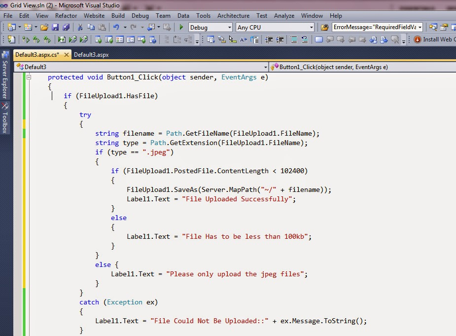 To Upload The Files in Asp net  | Web development tips