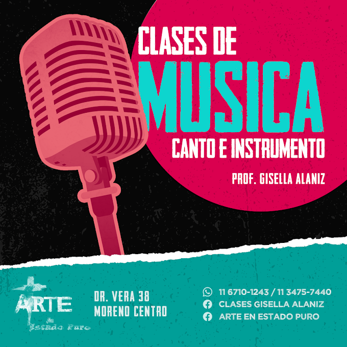 Flyer para Clases de Gisella Alaniz