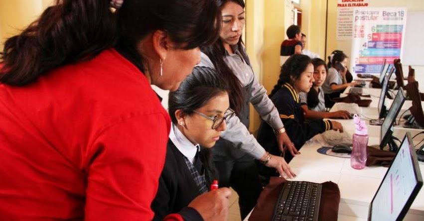 BECA 18: Escolares de Lima, Piura y Junín lideran inscripciones, informó el PRONABEC