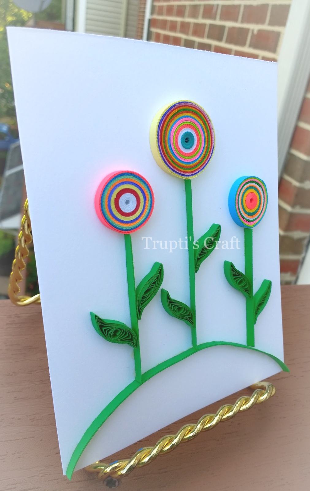 Truptis Craft Paper Quilling Lollipop Tree Greeting Cardwall