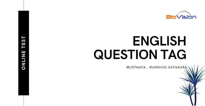 ENGLISH ONLINE TEST - QUESTION TAG