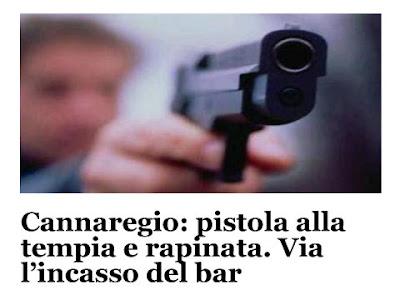 Un uomo impugna una pistola: rapina a Venezia, vittima imprenditrice cinese su ''La Voce di Venezia''