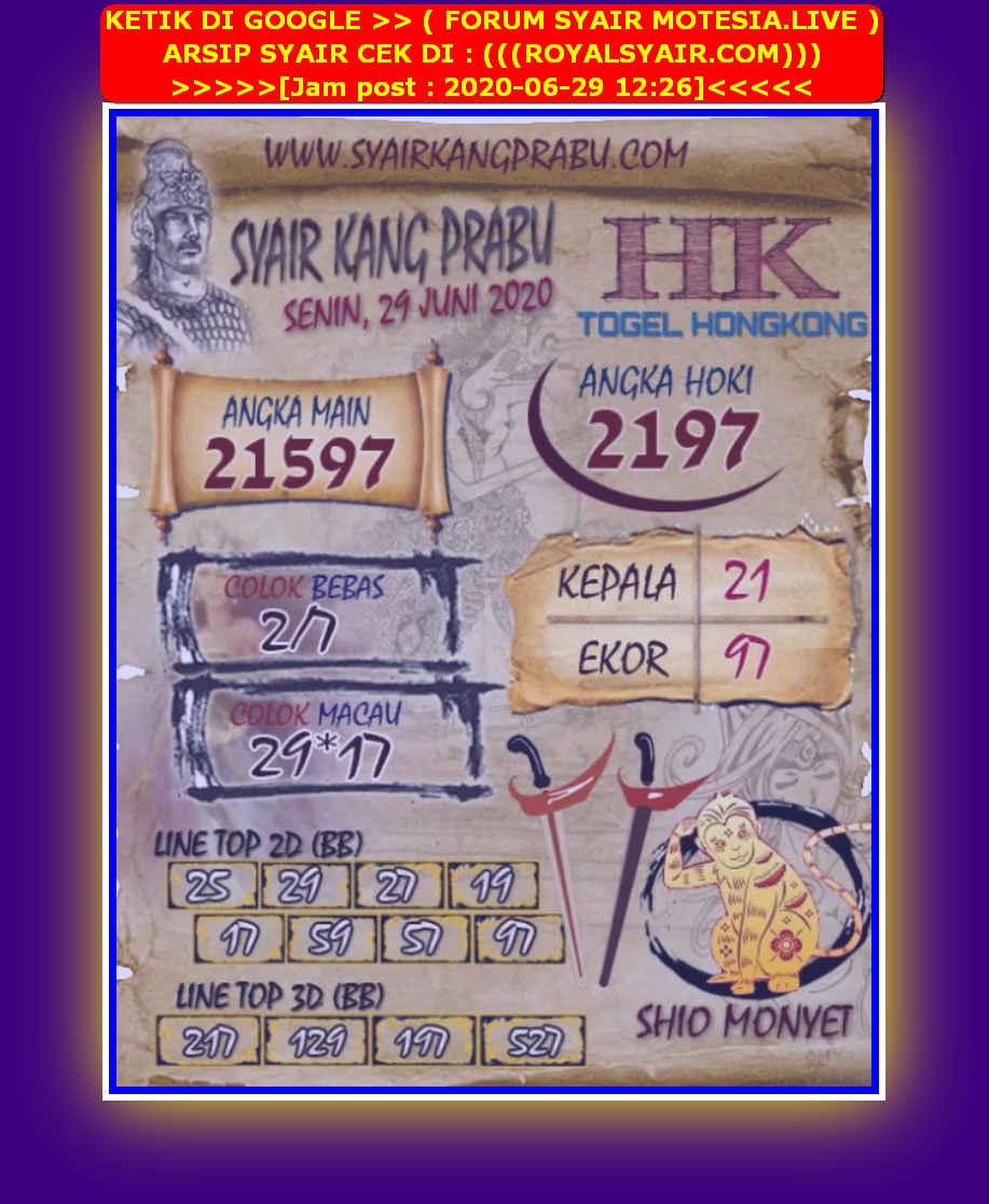 Kode syair Hongkong Senin 29 Juni 2020 93