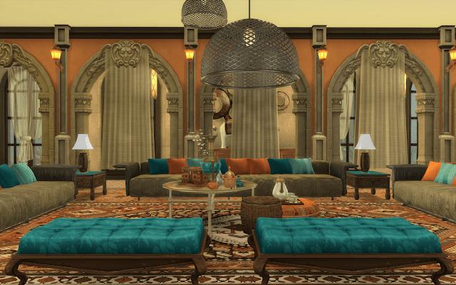 salon oriental sims 4