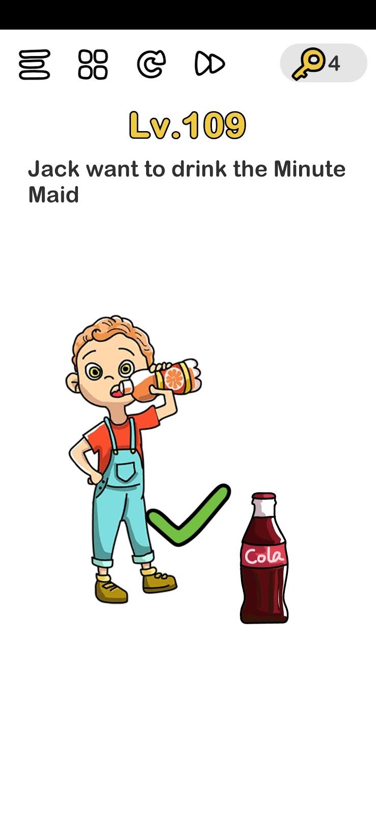 Jack Ingin Minum Jus Jeruk : ingin, minum, jeruk, Kunci, Jawaban, Brain, Level, Galeri