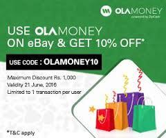 ebay 10% off using ola money