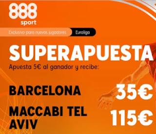 888sport superapuesta Barcelona vs Maccabi 18 diciembre 2020