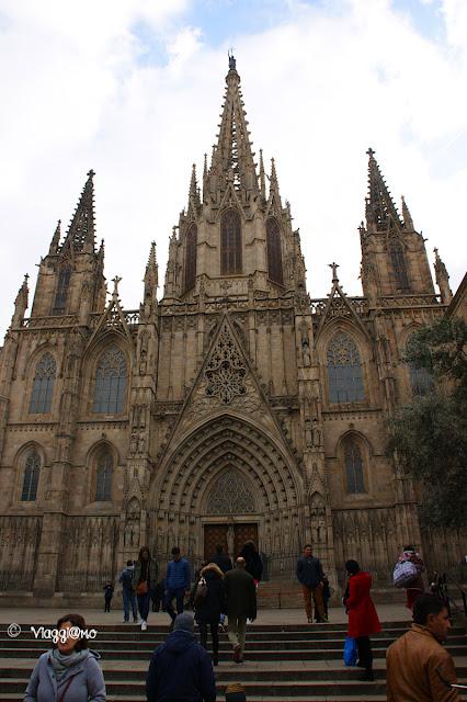 Cattedrale de la Seu nel quartiere Gotico di Barcellona