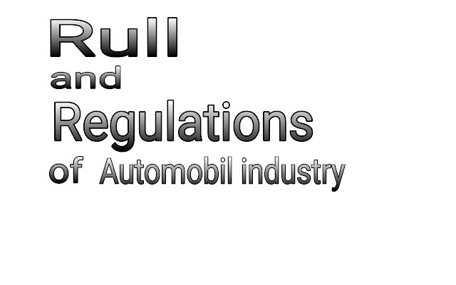 Rull and regulations of machanic and automobile engineer