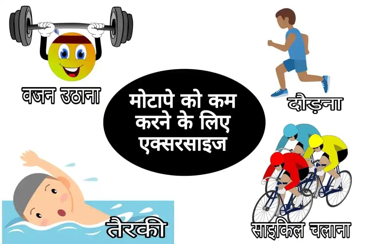 मोटापा (Motapa) कम करने के लिए एक्सरसाइज