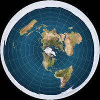 düz dünya haritası