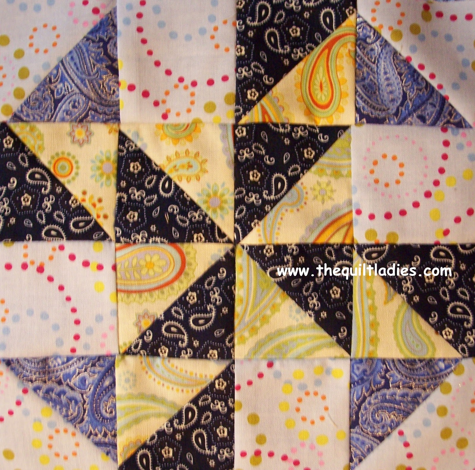 how to make a quilt block using triangles